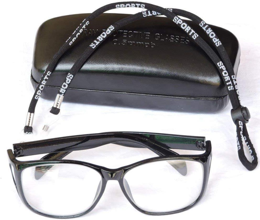 Anteojos de protección contra radiación con Protectores Laterales permanentes, Lentes de protección contra radiación de Rayos X, Gafas de Seguridad contra la radiación