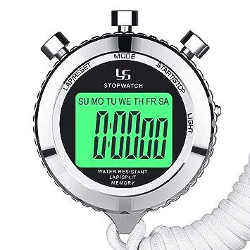 733ccb07aa89 LAOPAO Cronómetro Profesional Reloj Deportivo Digital Cronómetro con luz de  Fondo 0.01 Segundos 2 Lap Memories Cronómetro a Prueba de Agua  Amazon.es   ...
