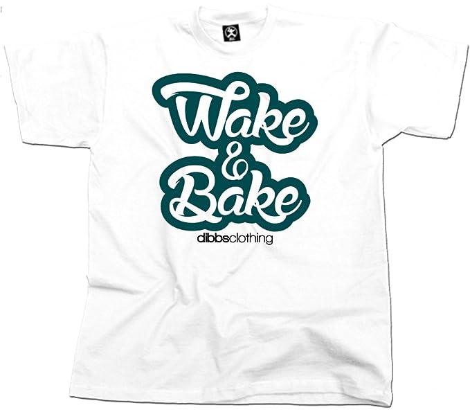 Wake and Bake Cannabis T-Shirt (White) From Dibbs