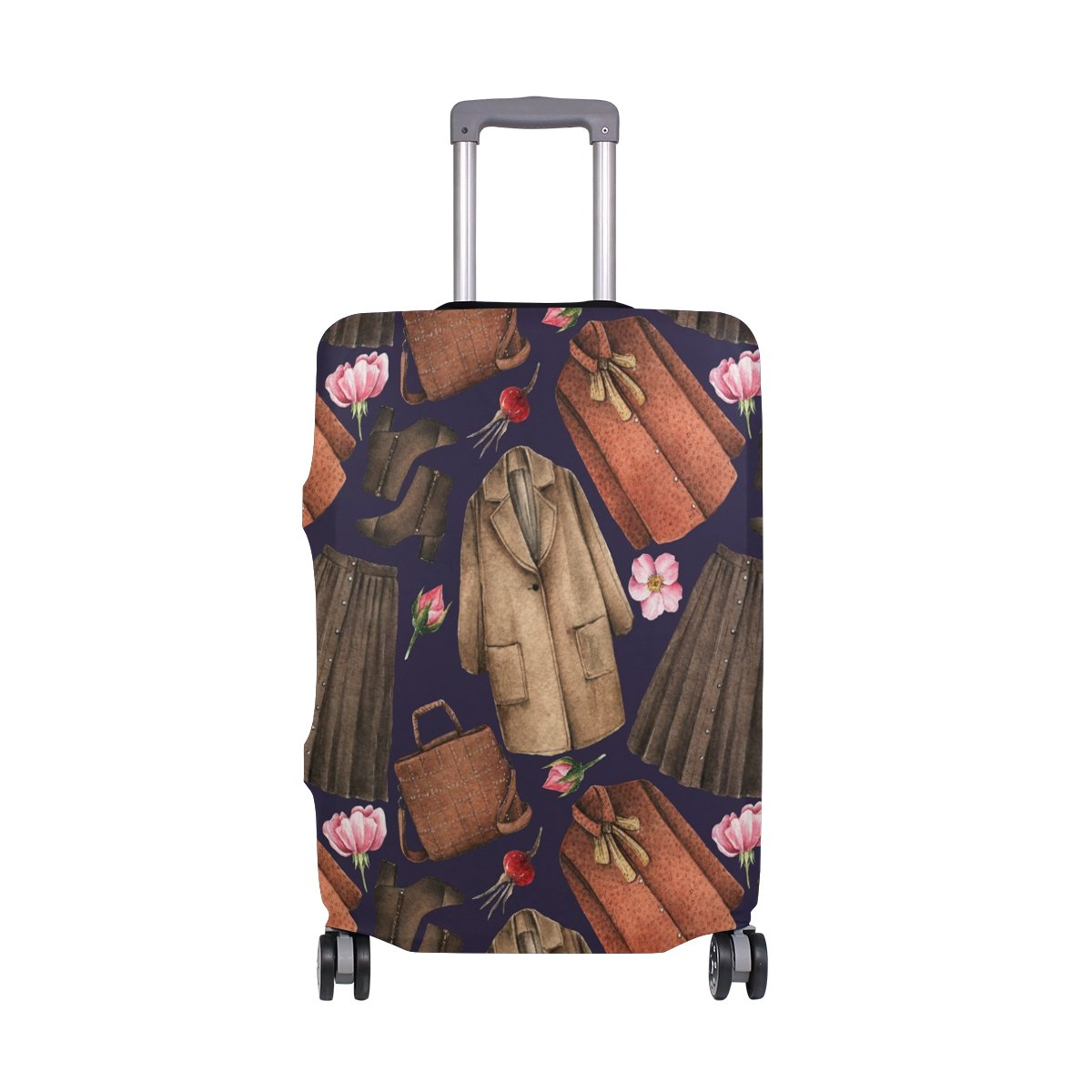Elastic Travel Luggage Cover Watercolor Coat Skirt Suitcase Protector for 18-20 Inch Luggage by My Little Nest (Image #1)