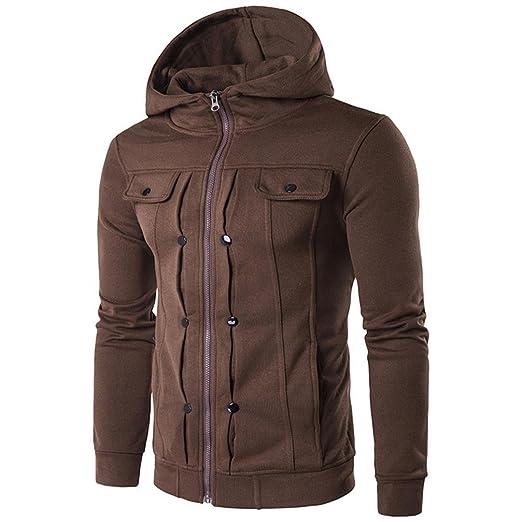 Abrigos de hombre Los hombres de auto-cultivo con capucha chaqueta confort cálido otoño y