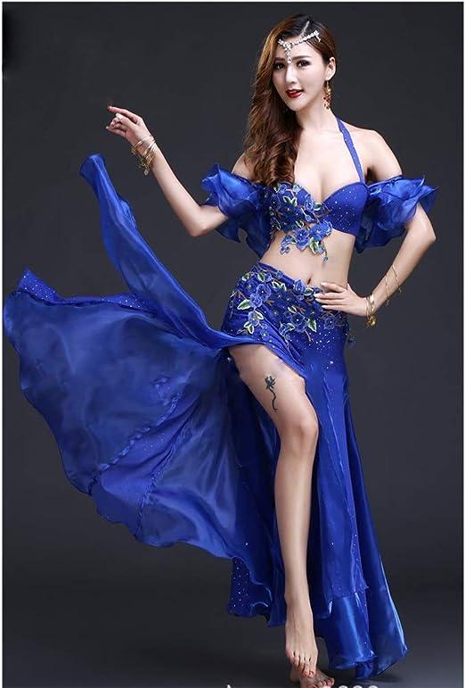 Qichengdian Falda de Danza del Vientre para Mujer Belly Dance ...