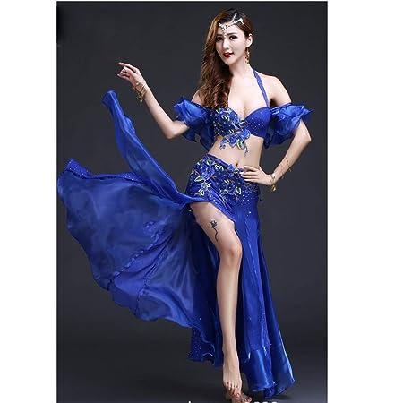 Yuqianqian Mujer Vestido de Danza Latino Conjunto de Traje de ...