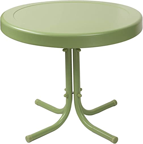 Crosley Furniture Gracie Retro 20-inch Metal Outdoor Side Table