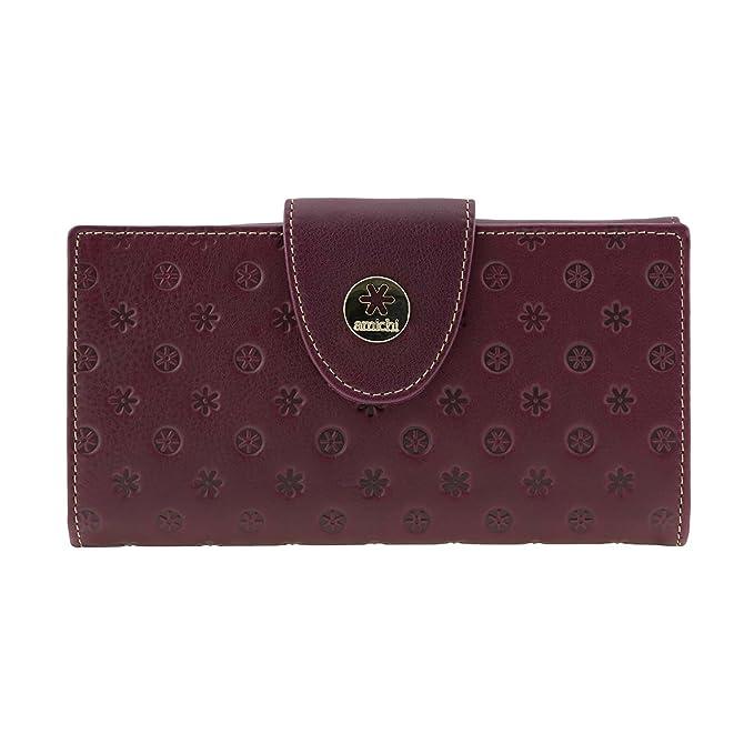 Billetero piel Vuitton de Amichi Talla: U Color: BURDEOS: Amazon.es: Ropa y accesorios