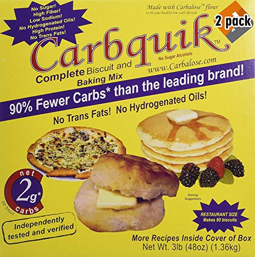 Carbquik Baking Biscuit Mix (48oz) - 2 Pack (Original Version) (Low Baking Mixes Carb)