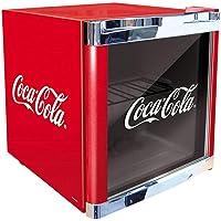 ScanDomestic Coolcube Getränkekühlschrank, Edelstahl, freistehend, 1Einlegeboden, 50l, 55l, 5-15°C, Farbe: Rot