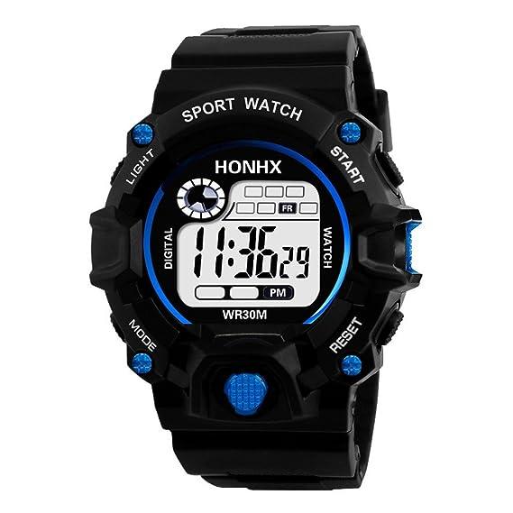 BOBOLover Reloj Inteligente Hombre Deporte, Negocios para Hombres de Lujoso Analógico Digital Militar Deporte LED Impermeable Reloj de Pulsera Elegante ...