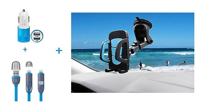 Soporte para teléfono móvil con cable y cargador de coche ...
