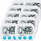 10 Pack Small Digital Kitchen Timer Magnetic Back And ON/OFF Switch,Minute Second Count Up Countdown
