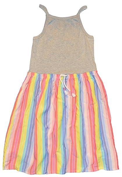 b22d559d13 Amazon.com: GAP Kids Girls Gray Rainbow Stripe Cami Dress XL 12 ...