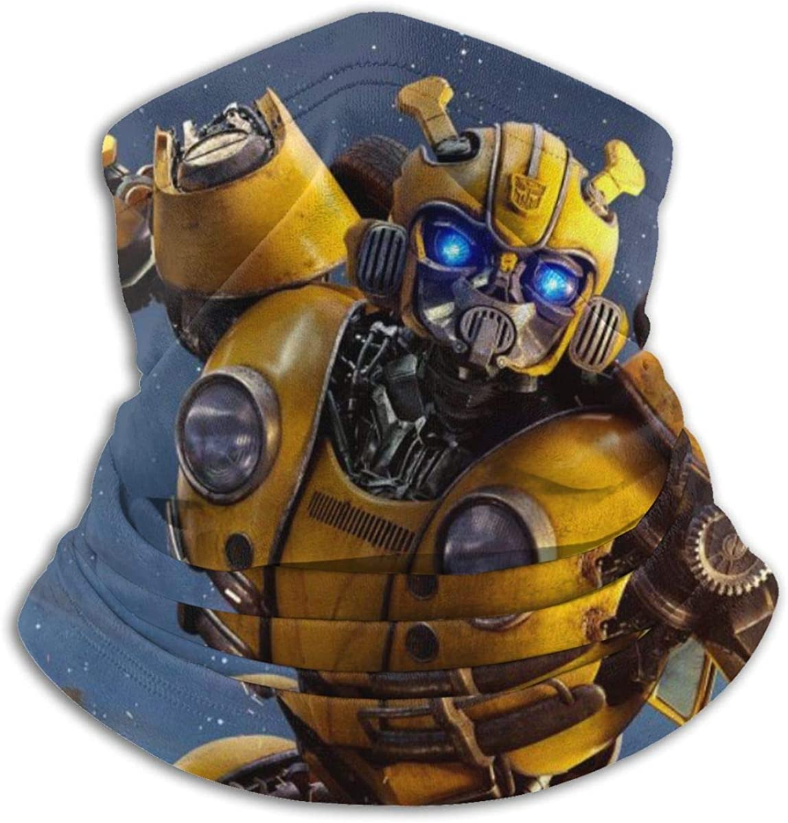 Transformers Bumblebee Neck Warmer Scarf Unisex Soft Windproof Novelty Headband For Sports Hiking