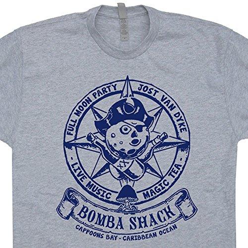 Shirtmandude T-Shirts XXL - Carribean Bar T Shirt Reggae Bar Shirts Mushrooms Jam Band Concert Sailing BVI Nautical Vintage Anchor Marijuana Psychedelic Graphic Tee