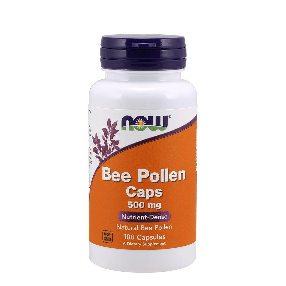 NOW Foods Bee Pollen, 500mg, 100 Capsules 海外直送品 B00028M47W