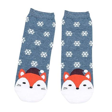 SUPVOX Calcetines de Navidad Copo de Nieve y ovejas Patrón Invierno Algodón Calcetines Fiesta de Navidad