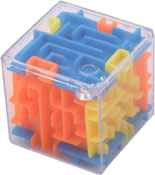 LnLyin - Puzle 3D con Forma de Cubo mágico, puzle con Forma de Rompecabezas en 3D, Juguete de mazo, Caja Divertida para Juego de Cerebro, Juguetes: Amazon.es: Hogar
