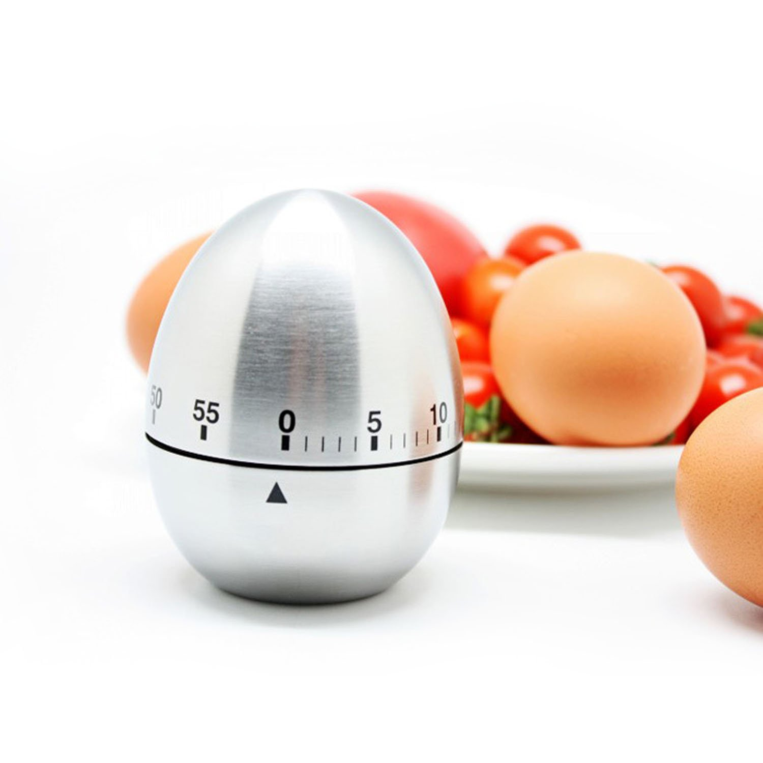Amazon.com: eBerry® Stainless Steel Egg Shape Kitchen Timer ...