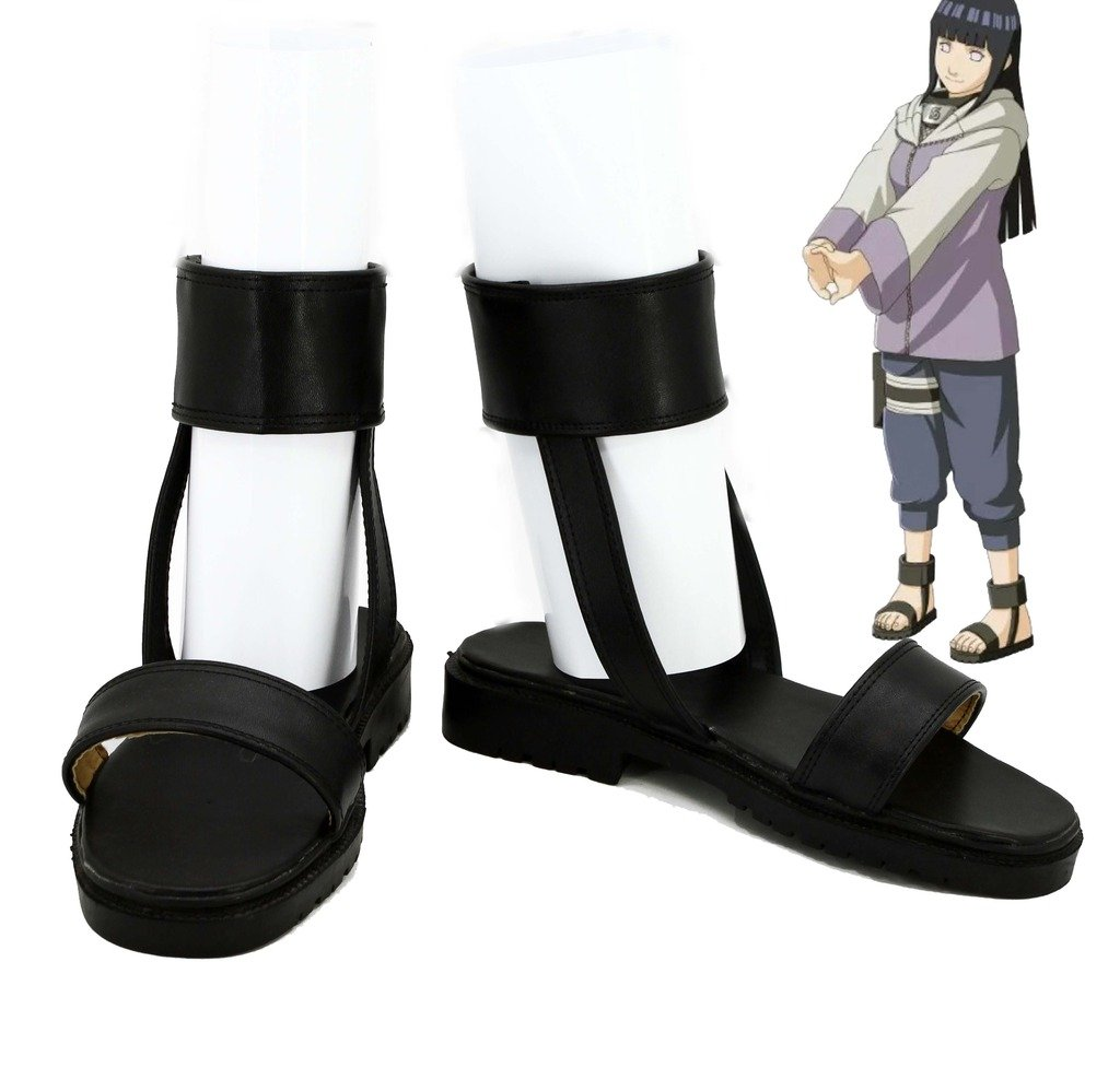 Telacos NARUTO Anime Hyuga Hinata Cosplay Shoes Boots Custom Made Nine-Tails Chakra Mode