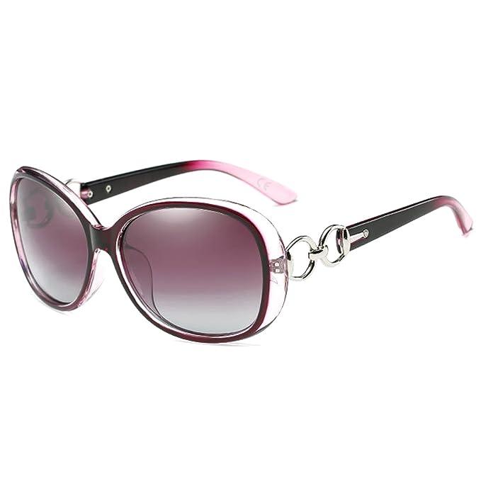 AMZTM Lujo Oversized Polarizadas Gafas De Sol Mujer Tendencia Moda Gafas: Amazon.es: Ropa y accesorios