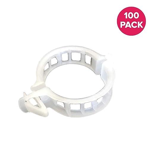 100 resistente Recortar Clips jardín enrejado Clips, Ideal para ...