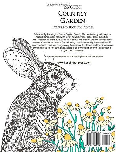 Amazon English Country Garden Colouring Book For Adults 9781532880216 Kensington Press Books