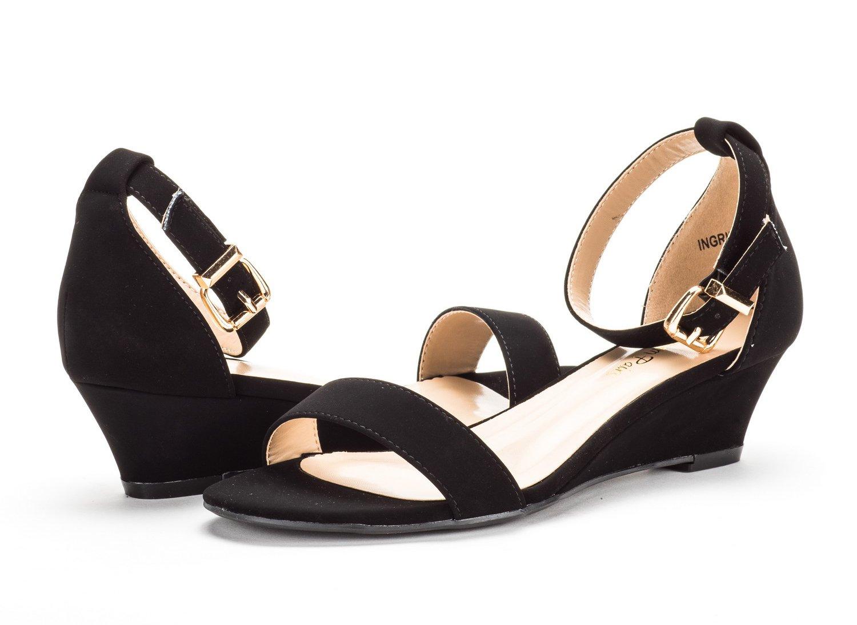 3c8d21469 Women INGRID DREAM PAIRS Women s Ingrid Ankle Strap Low Wedge Sandal ...