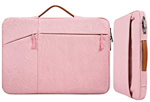 "15.6 Inch Waterproof Laptop Sleeve Women Ladies Briefcase with Handle Pocket for Acer Chromebook/Predator 15.6"", Lenovo Yoga 720/730 15.6, HP Spectre 15.6, MSI GS65 Toshiba Dell Inspiron Bag, Pink"