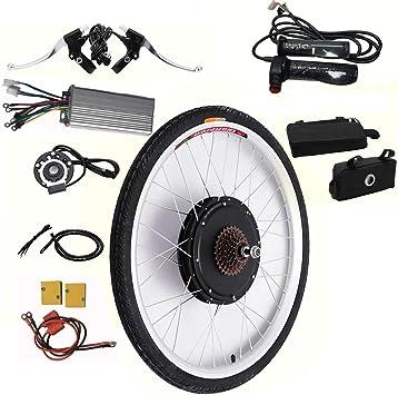 OUKANING Kit de conversión de Bicicleta eléctrica, 26 Pulgadas ...
