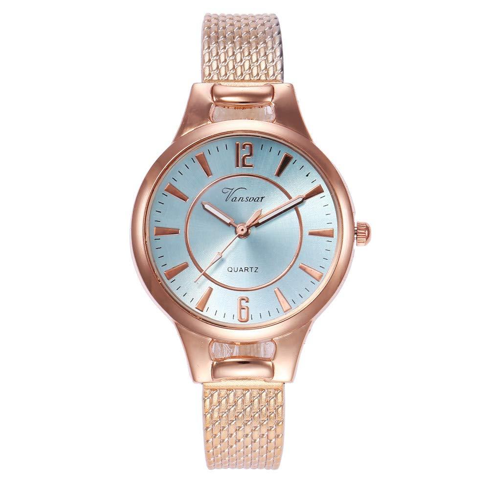 DAYLIN Relojes Mujer Moda Reloj Pulsera Analógico de Cuarzo Acero Inoxidable Relojes Regalos para Mujer Reloj Dorado Mujer Joyas Oro Rosa: Amazon.es: ...