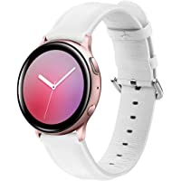 20mm Correa de Cuero Compatible con Huawei Watch GT/GT2 42mm/Samsung Galaxy Watch Active 2/Galaxy Watch 42mm Banda de…