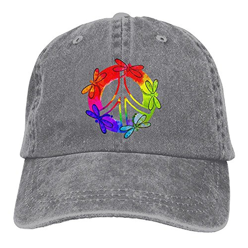 - Dragonfly Peace Sign Unisex Washed Twill Cotton Baseball Cap Vintage Adjustable Hat