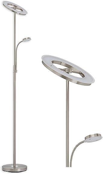 Moderne LED Wohnzimmerlampe mit flexiblem Lesearm dimmbar Wohnraumbeleuchtung