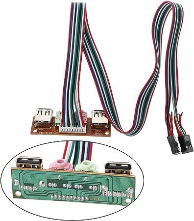 LDA Get Fresh 2.0 Caja de la computadora Panel Frontal Conectores de Audio Puerto Mic Auricular Cable 2 Puertos USB: Amazon.es: Hogar