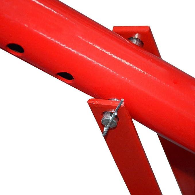 LINGJUN Desmontadora de Neumáticos Llantas Profesional Portátil para Garaje Mecánica Taller Rojo: Amazon.es: Coche y moto