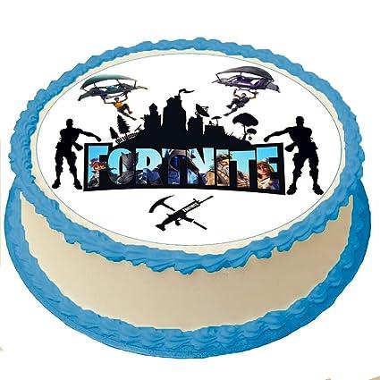 Fortnite Cake Toppers glaseado papel de azúcar de 8 pulgadas ...