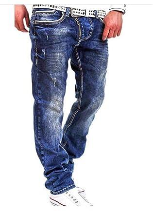 Amazon.com: Chiffoned New - Pantalones vaqueros para hombre ...