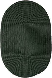 product image for Colonial Mills Boca Raton Braided Polypropylene Dark Green 5'x8' Oval Rug
