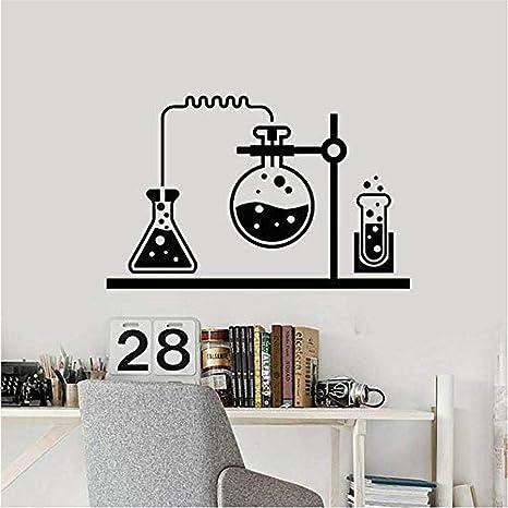 Amazon Com Oppsq Laboratory Vinyl Wall Decal Chemical Lab Science Wall Stickers Chemistry School Interior Decoration Modern Home Decor Art 42x65cm Kitchen Dining