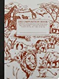 African Safari Decomposition Book: College-Ruled Composition Notebook with 100% Post-Consumer-Waste Recycled Pages