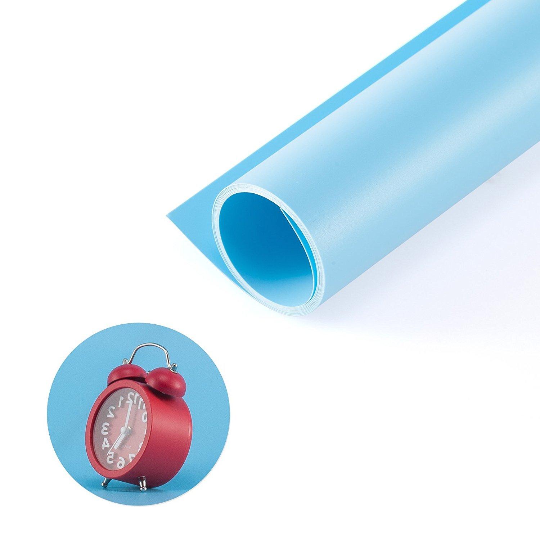 Studio Vid/éo et T/él/évision Bleu Selens 120x200cm Toile de Fond en PVC Lisse pour Photographie