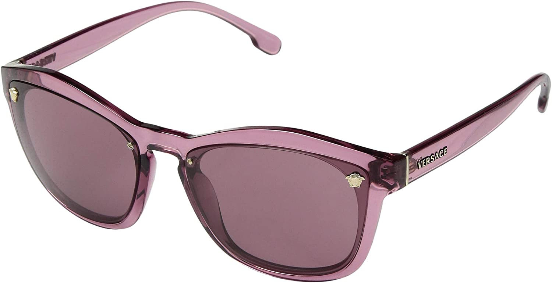 fa1c403acfae3 Amazon.com  Versace Womens Sunglasses Black Grey Nylon - Non-Polarized -  57mm  Clothing