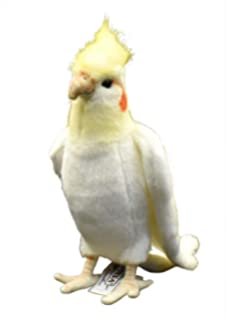 White Cockatiel Plush Soft Toy by Hansa. 23cm. 6457 by Hansa