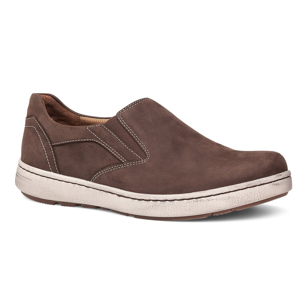 Dansko Men's Viktor Fashion Sneaker, Brown Milled Nubuck, 45 (US Men's 11.5-12) Regular