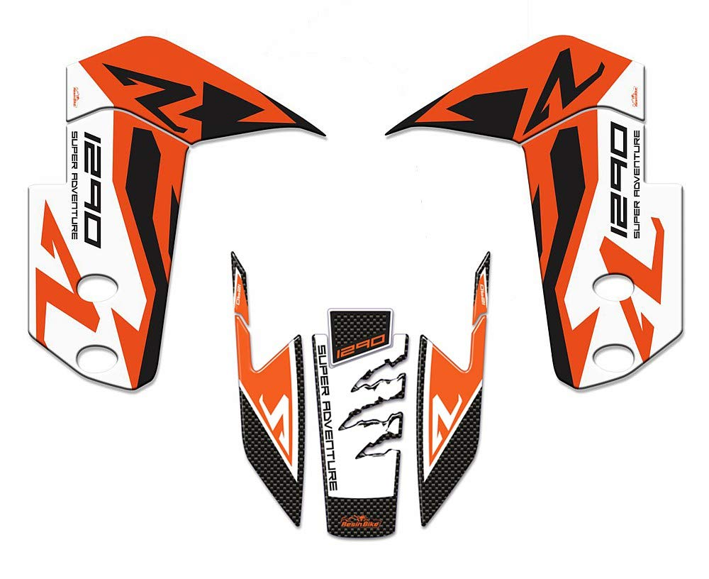 Complete Kit Stickers Resin Protection Fender Front For Ktm 1290 Super Adventure-r 2017-2018