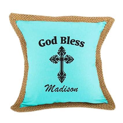 or custom color Custom off white burlap winter snowflake AQUA pillow cover
