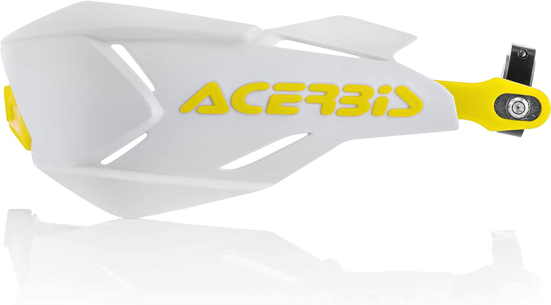 Acerbis Handschutz X Factory Orange Weiß Default Weiß Gelb Auto