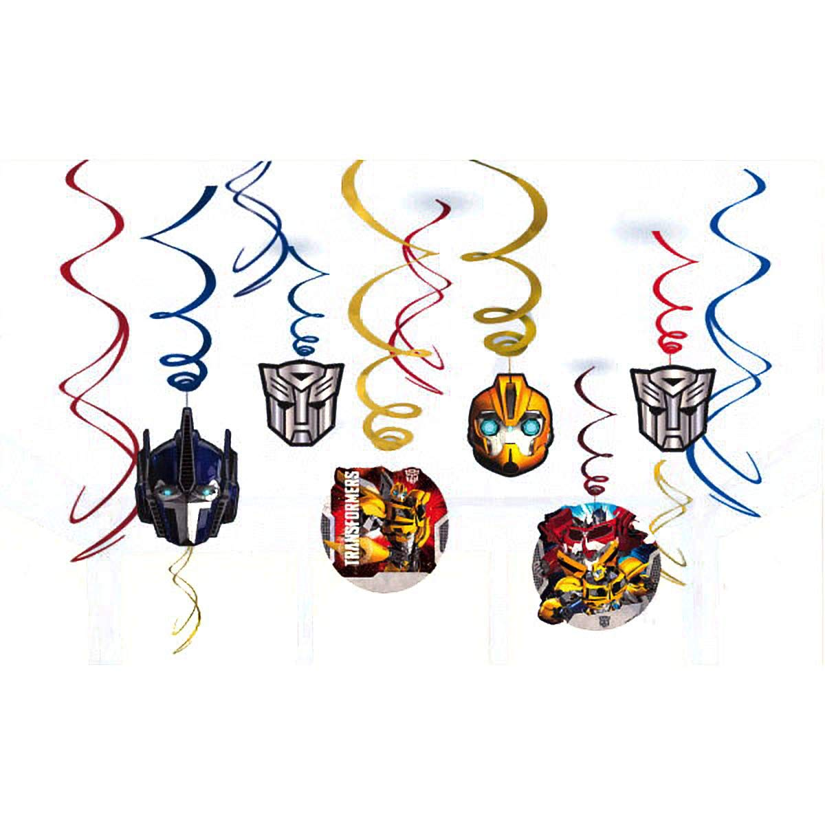STAR WARS Classic HANGING SWIRL DECORATIONS ~ Birthday Party Supplies Foil 12