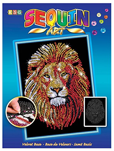 Sequin Art Blue, Golden Lion, Sparkling Arts and Crafts Picture Kit (Gold Coast Gift Delivery)