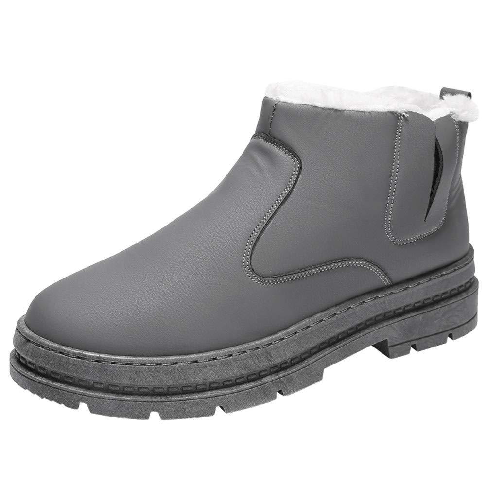 Logobeing Botines Hombre Zapatos Hombre Zapatos de Invierno Hombres Zapatos Casuales Trabajo Adulto Caminar Seguridad Calzado Zapatillas Botas para La ...