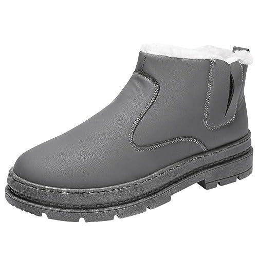 Logobeing Botines Hombre Zapatos Hombre Zapatos de Invierno Hombres Zapatos Casuales Trabajo Adulto Caminar Seguridad Calzado